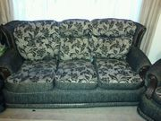 3 piece fabric sofa suite. 1+1+3. Two armchairs and one 3 seater sofa.
