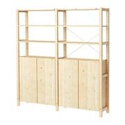 Ivar shelving/cabinets.